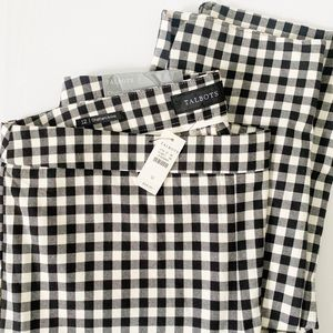 NWT Talbots Chatham Ankle Pants Gingham Size 12